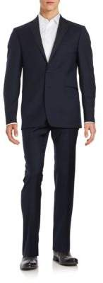 Calvin Klein Two-Button Wool Suit