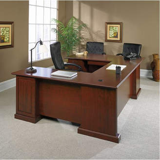 Co Darby Home Clintonville 4 Pieces U-Shape Desk Office Suite