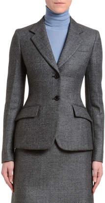 Prada Plaid Wool Jacket