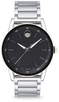 Movado Museum Sport Round Stainless Steel and Black PVD Bracelet Watch
