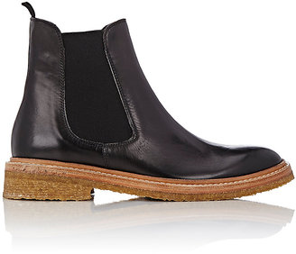 Barneys New York Women's Leather Chelsea Boots-BLACK $395 thestylecure.com