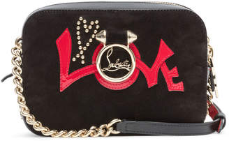 Christian Louboutin Rubylou Mini Black Suede And Leather Shoulder Bag
