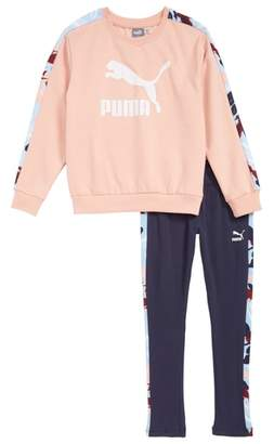 Puma Fleece Sweatshirt and Sweatpants Set