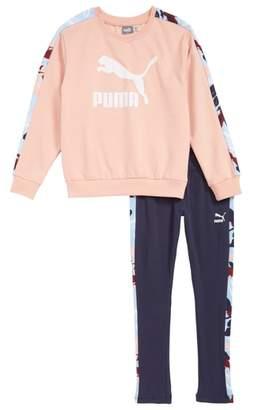 Puma Fleece Sweatshirt and Sweatpants Set