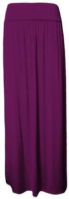 Roland Mouret Fashions Womens Flowy Maxi Skirt Fold Over Waist Band