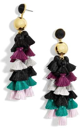 BaubleBar Corsetta Tiered Tassel Earrings