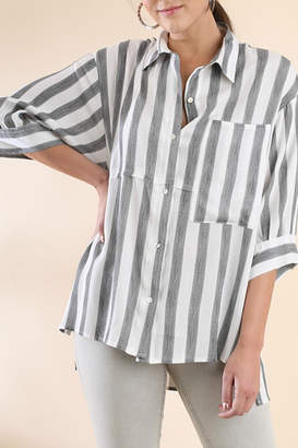 Umgee USA Stripe Button-Up Tunic
