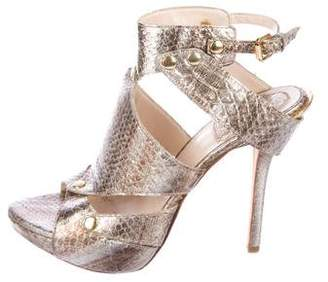 Christian Dior Snakeskin Caged Sandals