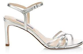 Stuart Weitzman Women's Starla Metallic Leather Sandals