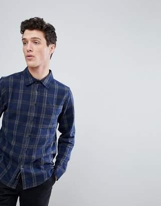 NATIVE YOUTH Curved Hem Check Shirt