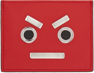 Fendi Red 'Fendi Faces' Card Holder $300 thestylecure.com