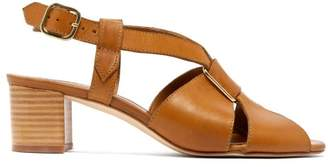 A.P.C. Jessica Leather Slingback Sandals - Womens - Tan