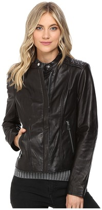 Marc New York by Andrew Marc - Liv Leather Moto Jacket Women's Coat $480 thestylecure.com