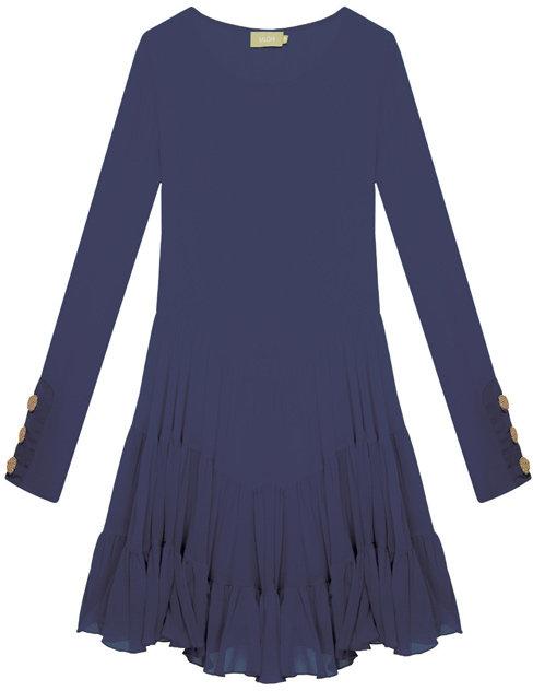 Saloni Blue Alexia Dress