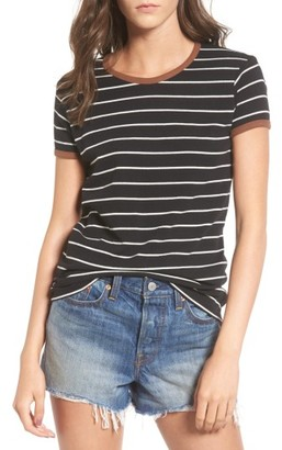 Women's Obey Baseplate Stripe Ringer Tee $40 thestylecure.com
