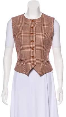 Hermes Wool & Cashmere Houndstooth Vest