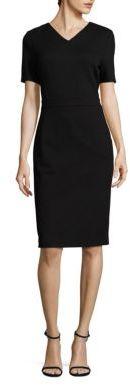 BOSS Helala Herringbone Sheath Dress $495 thestylecure.com