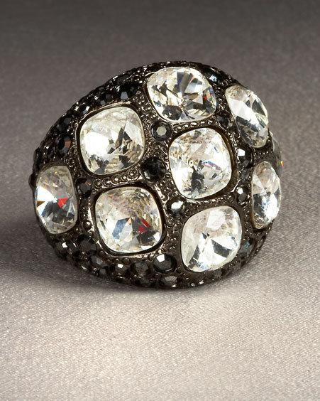 Kenneth Jay Lane Gunmetal Ring