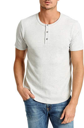 Sol Angeles Men's Speckled Terry Cloth Henley Shirt