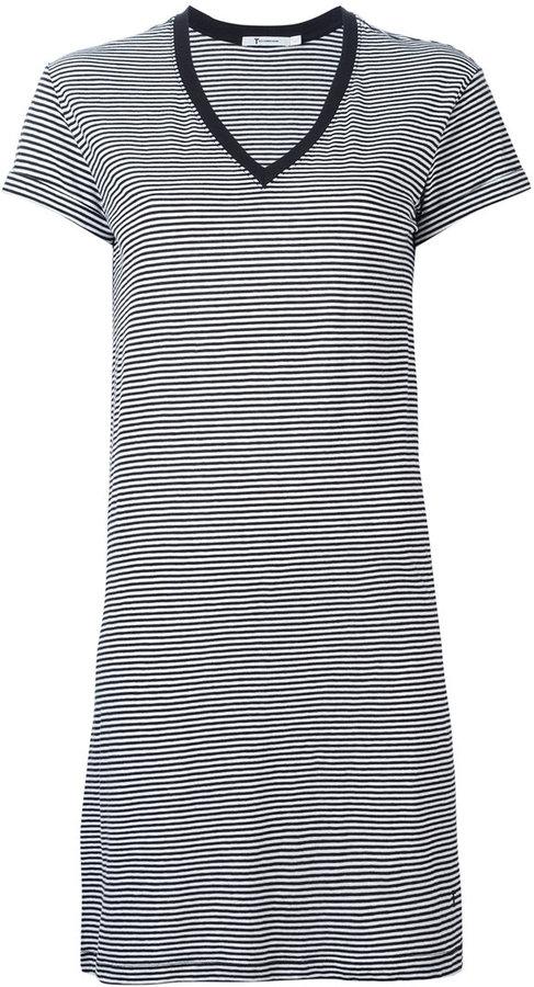 Alexander WangT By Alexander Wang striped T-shirt dress