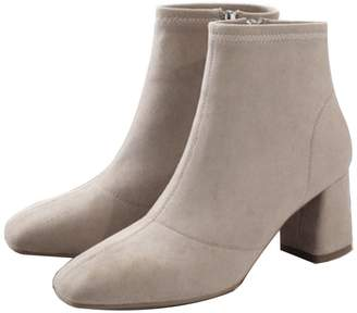 Goodnight Macaroon 'Collie' Faux Suede Heeled Ankle Boots (3 Colors)