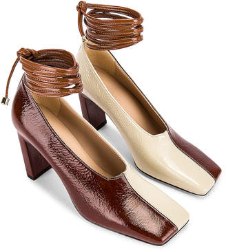 Wandler Isa Mules in Tan Shades | FWRD