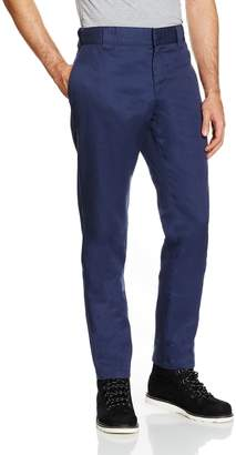 Dickies WP872 Slim Fit Work Chino Pant 32W x 32L Navy Blue