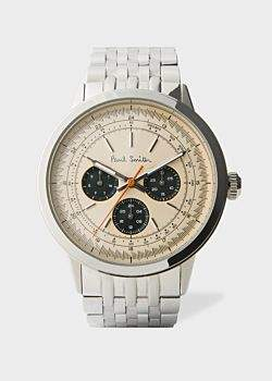 Paul Smith Men's Taupe And Stainless Steel 'Precision' Watch
