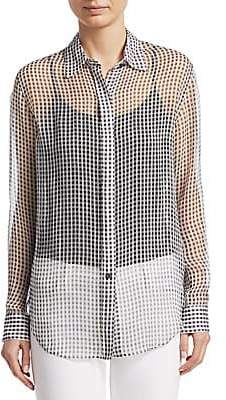 dd445fb7626b47 Theory Women s Silk Button-Front Blouse