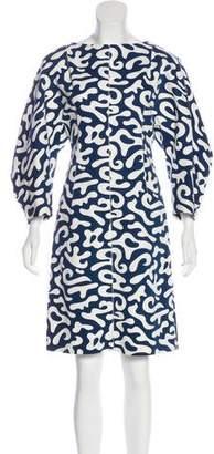 Marni Long Sleeve Knee-Length Dress
