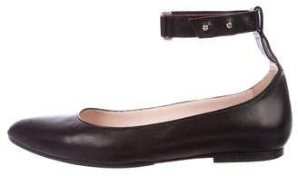 Missoni Leather Pointed-Toe Flats