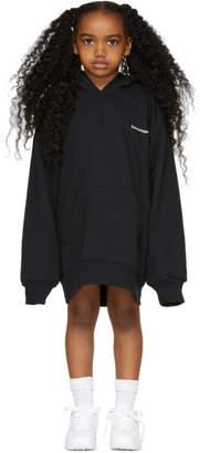 Balenciaga Girl Black Oversized Logo Hoodie