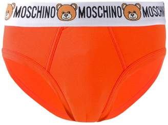 Moschino teddy logo waistband briefs