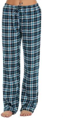 Ekouaer Women's Super Soft Flannel Plaid Pajama/Lounge Pants(,XXL)