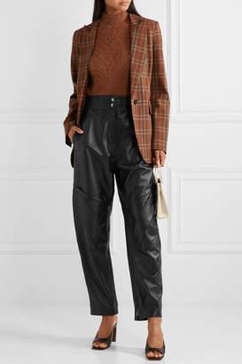 Acne Studios Louiza Leather Tapered Pants - Black