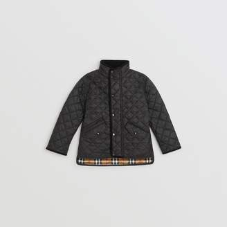 Burberry Lightweight Diamond Quilted Jacket , Size: 3Y, Black
