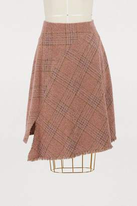 Acne Studios Plaid wool skirt