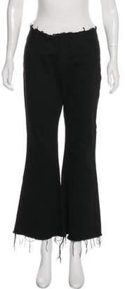 Marques Almeida Marques' Almeida Mid-Rise Wide-Leg Frayed-Accented Jeans w/ Tags