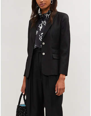 Claudie Pierlot Single-breasted twill blazer