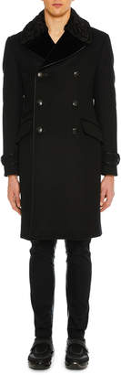 Prada Men's Cashmere Double-Breasted Coat
