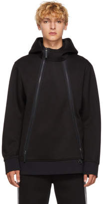 BLACKBARRETT by NEIL BARRETT Black Elongated Zip Hoodie