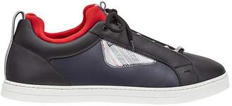 Fendi appliqué lace-up sneakers