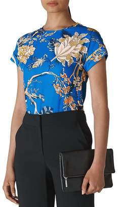 Whistles Exotic Floral Short-Sleeve Top