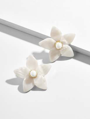 BaubleBar Mini Amariella Flower Stud Resin Earrings