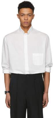 Yohji Yamamoto White Flap Collar Shirt