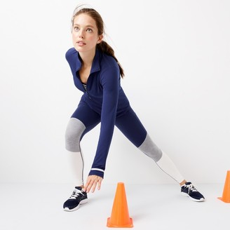 New Balance® for J.Crew performance leggings in colorblock $95 thestylecure.com