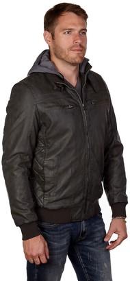 X-Ray Xray Men's XRAY Faux-Leather Hooded Jacket
