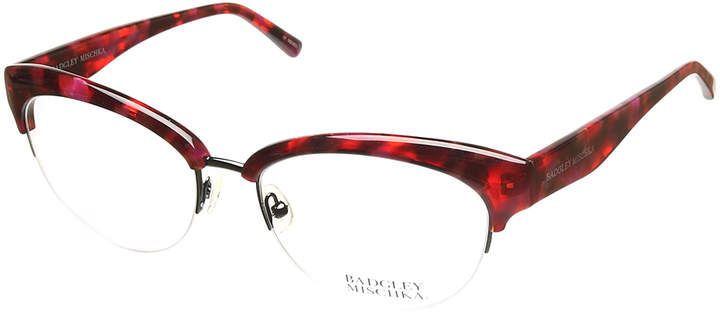 Burgundy Vivianna Half-Rim Eyeglasses