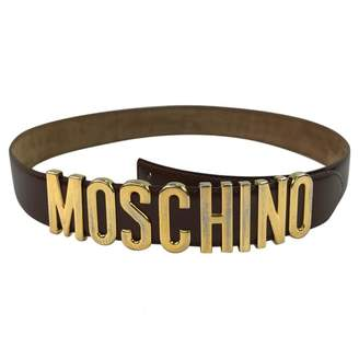 Moschino Brown Leather Belts