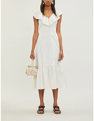 Claudie Pierlot Roucas frill-trimmed crepe dress